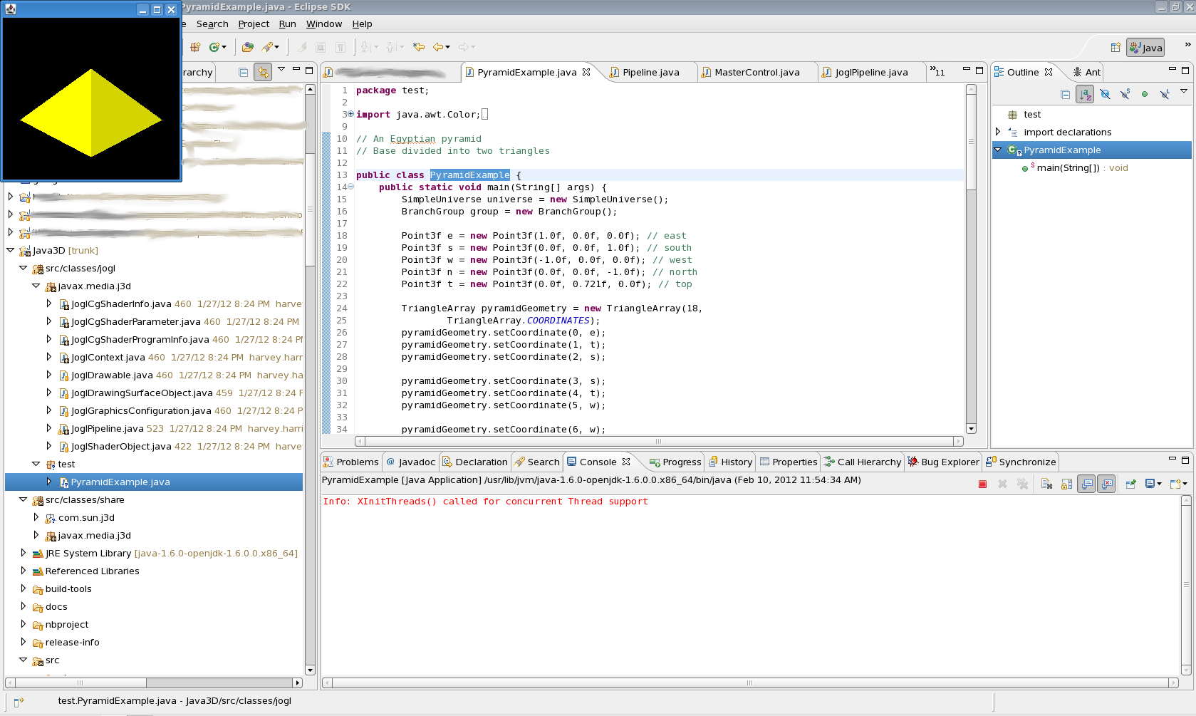 Java 3D with JOGL 2.0, first success