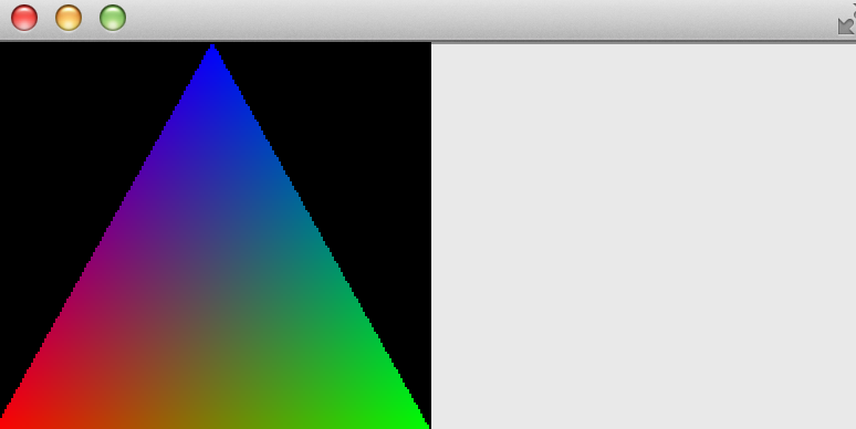 The triangle should in rendered to the right, not the left side.