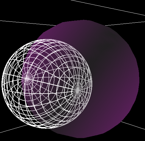 transparency working - can see sphere inside other sphere